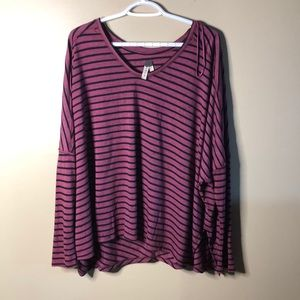 We the free oversized striped batwing long sleeve